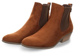 Krush Tan Suede Slip On Ankle Chelsea Boot