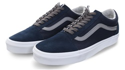 Vans Dress Blue / Grey Jersey Lace Old Skool Shoes
