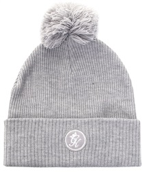 Gym King Grey Sharp Ribbed Bobble Hat
