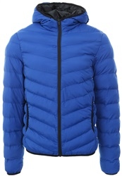 Brave Soul Cobalt Blue Padded Zip Up Jacket