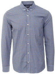 Ottomoda Blue Button Down Check Print Shirt