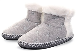Superdry Grey Marl / Silver Slipper Boot