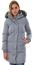 Superdry Grey Cocoon Parka Zip Up Jacket