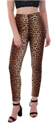 Parisian Brown Leopard Print High Waist Trouser