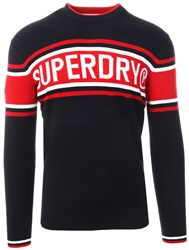 Superdry Navy Oslo Crew Sweater