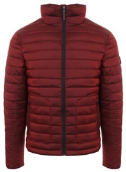 Superdry Dark Red Fuji Double Zip Jacket