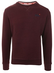Superdry Burgundy Orange Label Sweatshirt