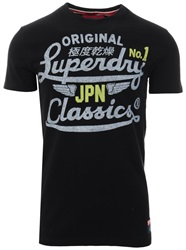 Superdry Black High Speed Heritage Classic T-Shirt