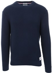 Hilfiger Denim Black Iris Texture Crew L/Sleeve Sweater