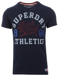 Superdry Montanna Blue Track And Field Tri T-Shirt