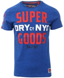 Superdry Cobalt Tee 34th Street Short Sleeve T-Shirt
