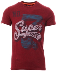Superdry Bright Berry Grit Super 7 Tri T-Shirt