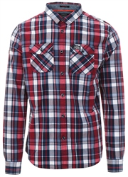 Superdry Ruby Navy Washbasket Check Shirt