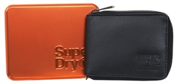Superdry Black Wing Leather Wallet In A Tin