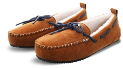 Superdry Tan Suede Clinton Moccasin Slippers