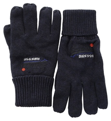 Superdry Eclipse Navy/Black Grit Orange Label Gloves