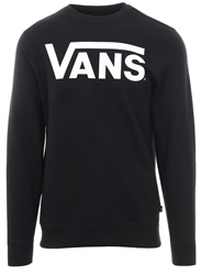 Vans Black/White Classic Crew Pull Over Fleece