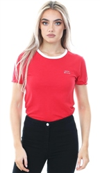 Jack Wills Red Braemer Short Sleeve Ringer T-Shirt
