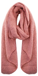 Pieces Rosette / Red Pyron Wool Knit Long Scarf