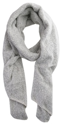 Pieces Moonbeam / Stone Pyron Wool Knit Long Scarf