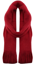 Pieces Scooter / Red Drace Wool Knit Long Scarf