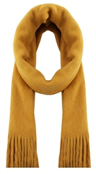 Pieces Nugget Gold Drace Wool Knit Long Scarf