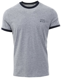 Jack Wills Grey Sailsbury Ringer Short Sleeve T-Shirt
