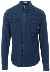 Levi's Blue Barstow Western Shirt