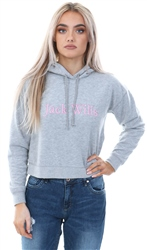 Jack Wills Grey Marl Pedderson Embroidered Logo Hoodie