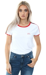 Jack Wills White Bransgore Stripe T-Shirt