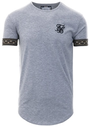 Siksilk Grey Short Sleeve Cartel Lounge Tee