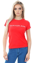 Calvin Klein Racing Red Short Sleeve Slim Logo T-Shirt