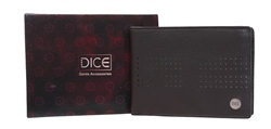 Dice Brown Braxton Leather Wallet In A Box