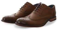 Kaymans Tan Oxford Lace Up Brogues