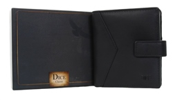 Dice Black Carey Button Wallet In A Box
