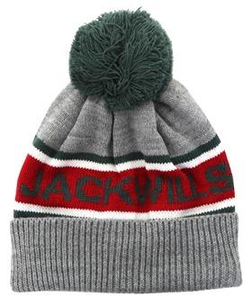 9796beeaf3e Jack Wills Grey Marl Kitson Intarsia Beanie Hat
