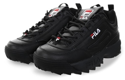 Fila Black Disruptor II Lace Up Chunky Trainer
