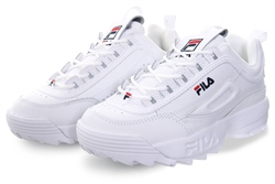 Fila White Disruptor II Lace Up Chunky Trainer