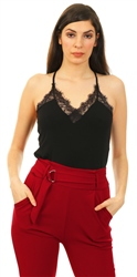 Veromoda Black Milla Lace Cami Top