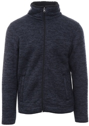 Kensington Navy Textured Zip Up Jacket