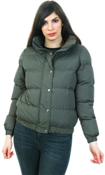 Brave Soul Khaki Zip Up Padded Coat