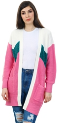 Noisy May Suger Colour Blocked Knit Cardigan