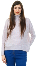 Veromoda Egg Nog Roll Neck Glitter Jumper