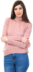 Veromoda Misty Rose Roll Neck Glitter Jumper