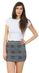 Daisy St Grey / Black Check Mini Fitted Skirt