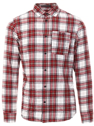 Jack & Jones Fiery Red Stevens Long Sleeve Shirt