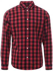 Jack & Jones Red Check Long Sleeved Shirt
