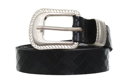 Pieces Black Snake Print Buckle Jean Belt