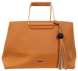 Koko Yellow/Orange Zip Over Tassel Handbag