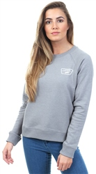 Vans Grey Heather Full Patch Raglan Crew Sweater